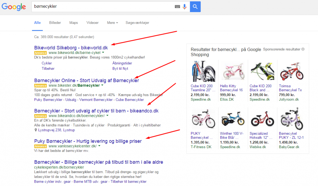 search annoncer google